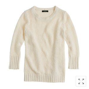 J. Crew cream twisted stitch sweater size Small